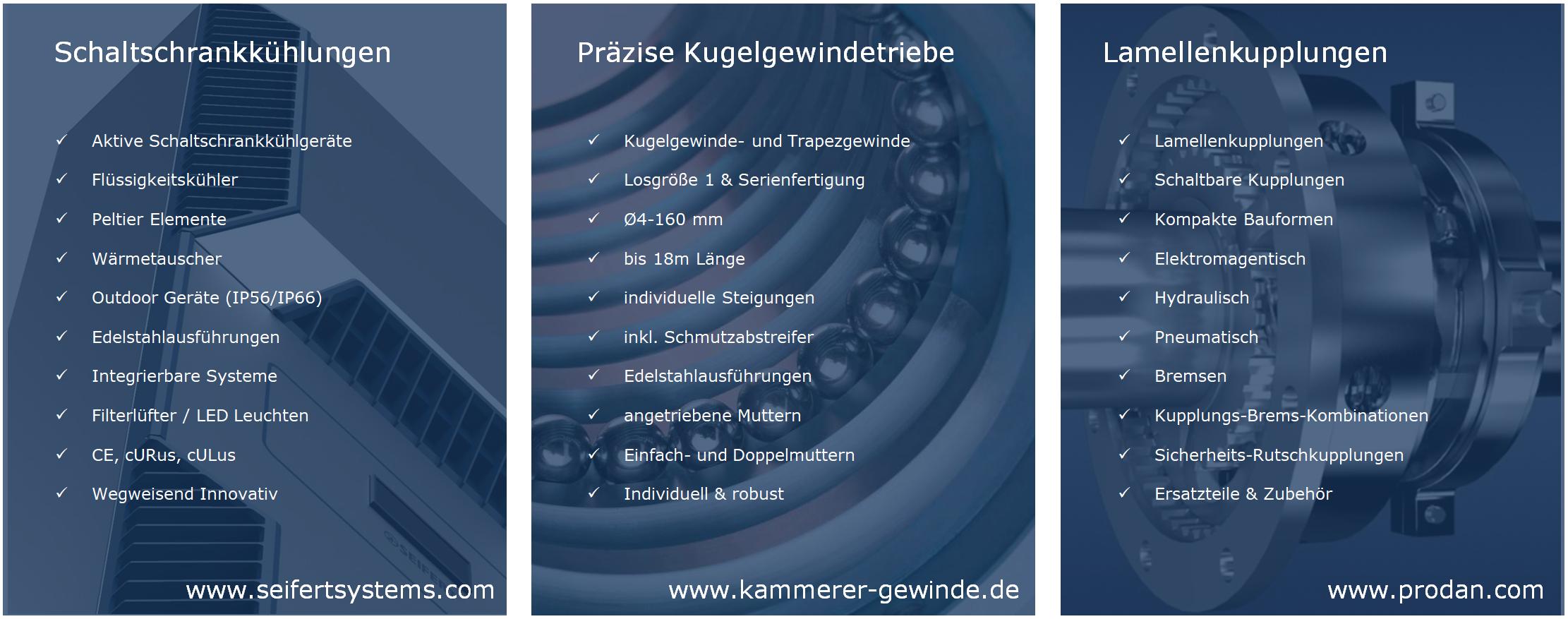 Produktübersicht Kammerer Seifert Systems Prodan